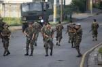 Soldados en las calles de Honduras
