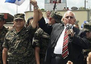 micheletti junto a militares en golpe militar Honduras