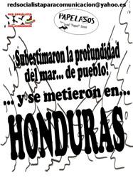 caricaturas contra golpe de estado en Honduras