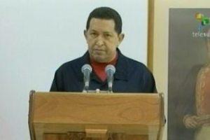 Hugo Chávez, presidente de Venezuela, durante la lectura del mensaje al pueblo de ese país