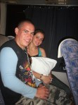 Johnny y Dianet en la yutong rumbo a Santiago