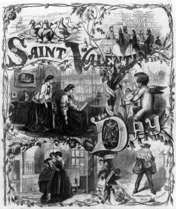 Postal de San Valentín 1861